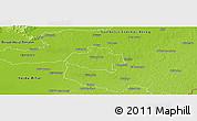 Physical Panoramic Map of Nyiregyháza