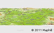 Physical Panoramic Map of Hungary
