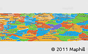Political Panoramic Map of Hungary