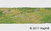 Satellite Panoramic Map of Hungary