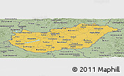 Savanna Style Panoramic Map of Hungary
