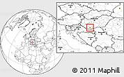 Blank Location Map of Pécs