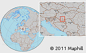 Gray Location Map of Pécs