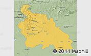 Savanna Style 3D Map of Pest
