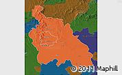 Political Map of Pest, darken