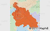 Political Map of Pest, lighten