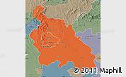 Political Map of Pest, semi-desaturated