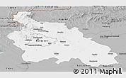 Gray Panoramic Map of Pest