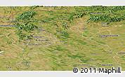 Satellite Panoramic Map of Pest