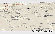 Shaded Relief Panoramic Map of Pest