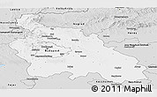 Silver Style Panoramic Map of Pest