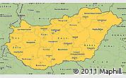 Savanna Style Simple Map of Hungary