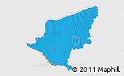 Political 3D Map of Somogy, cropped outside