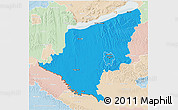 Political 3D Map of Somogy, lighten