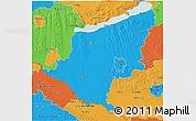 Political 3D Map of Somogy