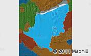 Political Map of Somogy, darken