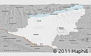 Gray Panoramic Map of Somogy