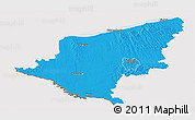 Political Panoramic Map of Somogy, cropped outside