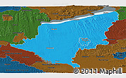Political Panoramic Map of Somogy, darken