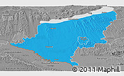 Political Panoramic Map of Somogy, desaturated
