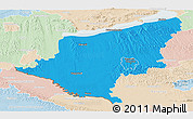 Political Panoramic Map of Somogy, lighten
