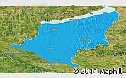 Political Panoramic Map of Somogy, satellite outside