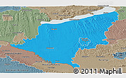 Political Panoramic Map of Somogy, semi-desaturated