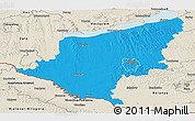 Political Panoramic Map of Somogy, shaded relief outside