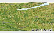 Satellite Panoramic Map of Somogy