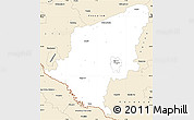 Classic Style Simple Map of Somogy