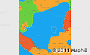 Political Simple Map of Somogy