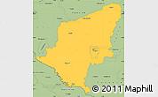 Savanna Style Simple Map of Somogy