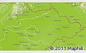 Physical 3D Map of Szalbolcs-Szatmár-Bereg