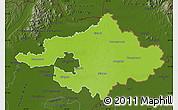 Physical Map of Szalbolcs-Szatmár-Bereg, darken