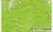 Physical Map of Szalbolcs-Szatmár-Bereg