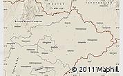 Shaded Relief Map of Szalbolcs-Szatmár-Bereg