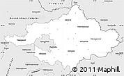 Silver Style Simple Map of Szalbolcs-Szatmár-Bereg