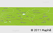 Physical Panoramic Map of Szeged
