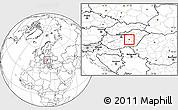 Blank Location Map of Szolnok