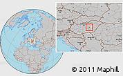 Gray Location Map of Szolnok