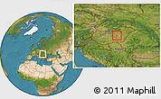 Satellite Location Map of Szolnok