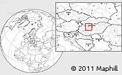 Blank Location Map of Tatabánya