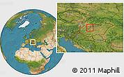 Satellite Location Map of Tatabánya