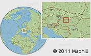 Savanna Style Location Map of Tatabánya