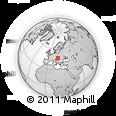 Outline Map of Tatabánya