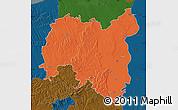 Political Map of Tolna, darken