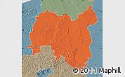 Political Map of Tolna, semi-desaturated
