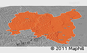 Political Panoramic Map of Tolna, desaturated