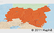 Political Panoramic Map of Tolna, lighten