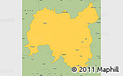 Savanna Style Simple Map of Tolna